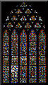 ST5545 : Stained glass window, s.II, Wells Cathedral by Julian P Guffogg