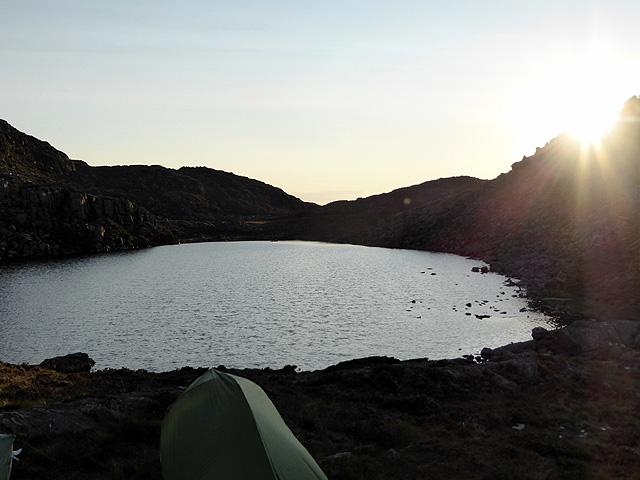 Wild camping beside Llyn Du