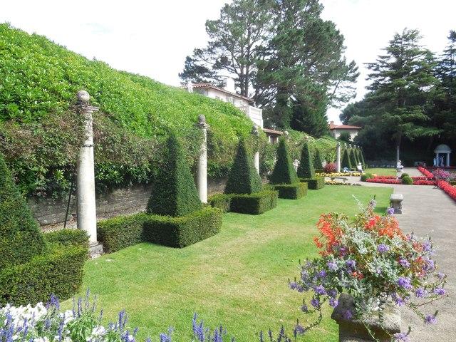 Topiary in Italian Gardens, Compton Acres
