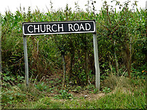 TM3193 : Church Road sign by Adrian Cable