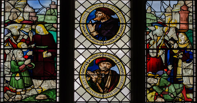 Stained glass window s.VI, Wells Cathedral