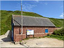 TA2372 : Lifeboat House, North Landing, Yorkshire by Christine Matthews