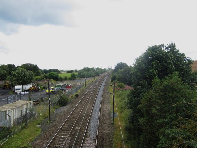 Looking south along the East Coast Mainline