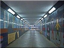 TQ3881 : Decorative tilework, pedestrian subway, Poplar by Jim Osley