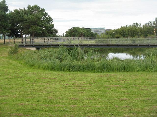 Footbridge in Forthquarter Park