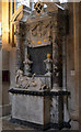 ST5545 : Monument to Bishop Kidder & wife by Julian P Guffogg