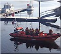 NG7627 : Lifeboat launch, Kyle of Lochalsh by Andrew Hill
