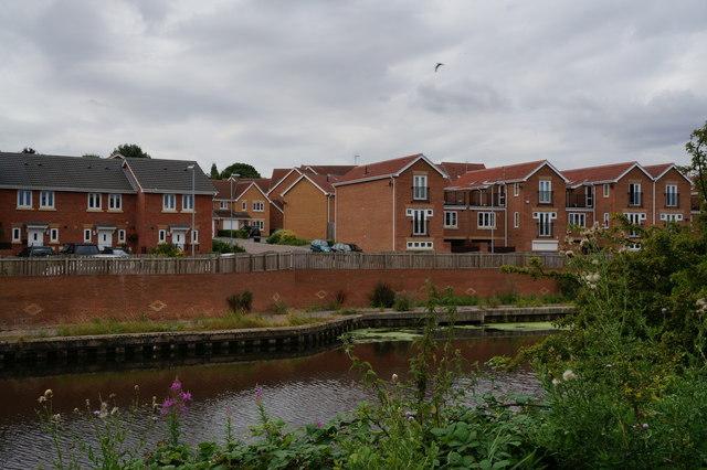 Houses overlooking Knottingley & Goole Navigation