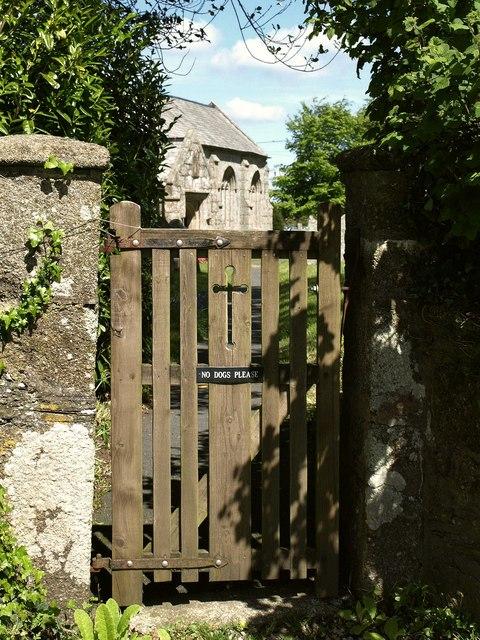Churchyard gate, St Ive