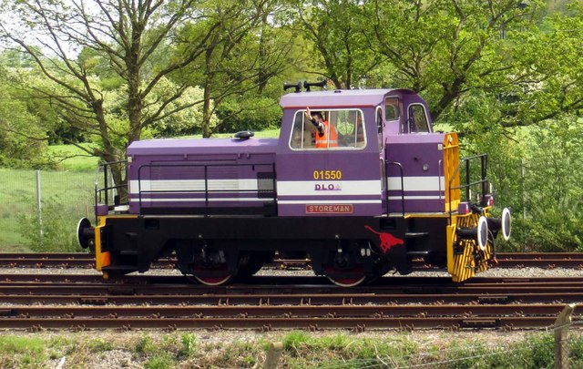 """Shunting loco """"Storeman"""" on the Bicester Military Railway"""