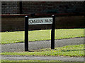 TL0652 : Somerton Walk sign by Adrian Cable