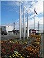 TA3008 : Sails sculpture on sea road Cleethorpes by Steve  Fareham