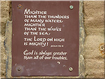 NZ8911 : Plaque on Lighthouse on the West Pier, Whitby by Christine Matthews