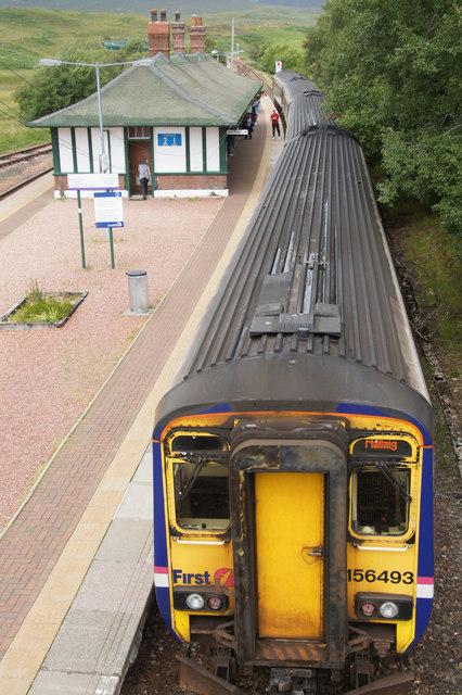 Train at Rannoch Station