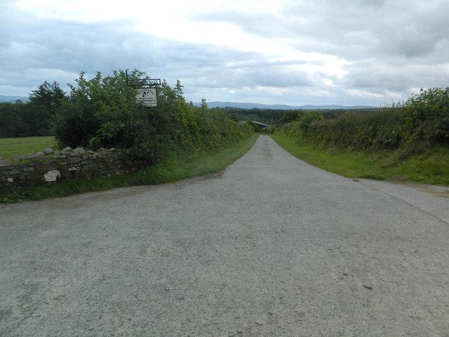 Entrance to track to Ffynnonrhys Farm
