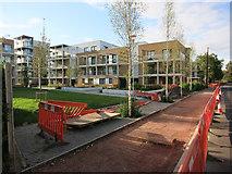 TL4658 : Roadworks, Cromwell Road by Hugh Venables