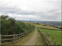 SJ9693 : Towards the war memorial at Werneth Low Country Park by John Slater