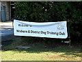 TL0652 : Woburn & District Dog Training Club sign by Geographer