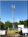 TL0652 : Telecommunications Mast at Bedford Athletic RUFC by Adrian Cable