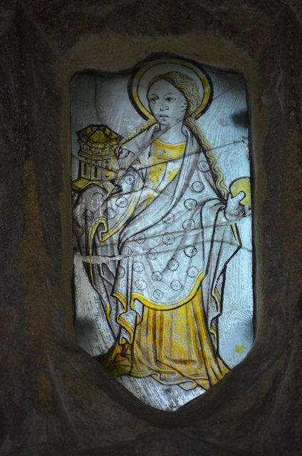 Medieval stained glass window, Wells Cathedral