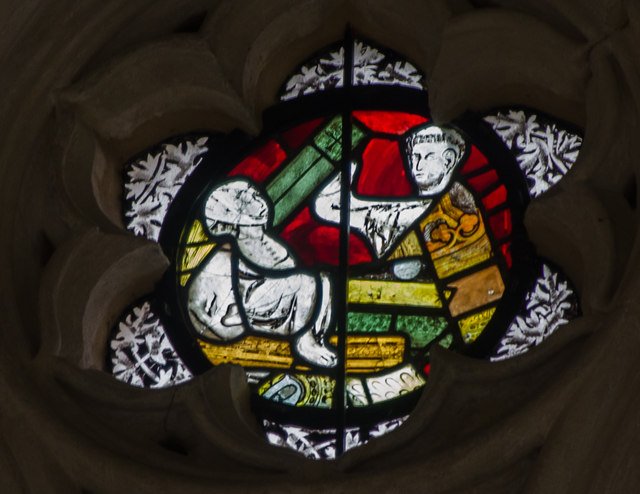 Medieval stained glass, Wells Cathedral