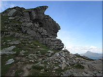 """NN2605 : North top of """"The Cobbler� and Ben Lomond by Peter S"""