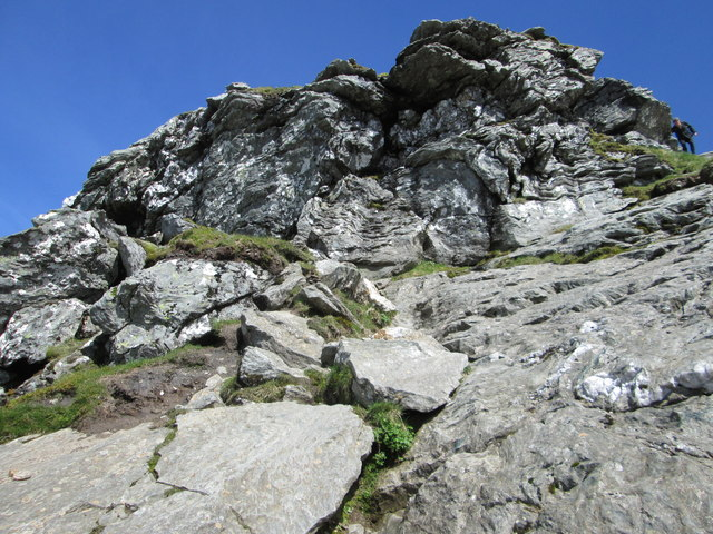 """A steep section nearing the north top of """"The Cobbler"""""""