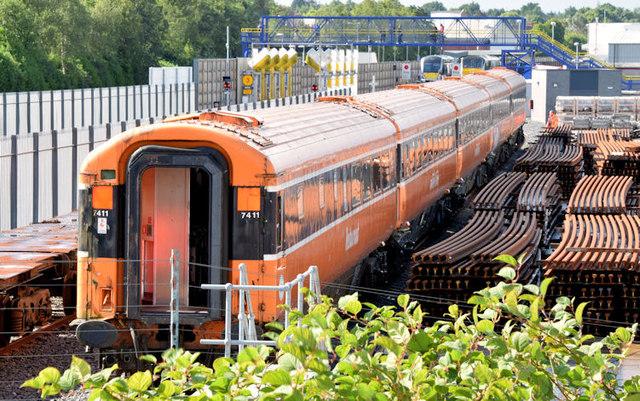 Irish Rail coaches, Adelaide, Belfast (August 2014)