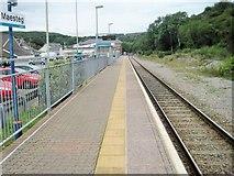 SS8591 : Maesteg railway station, Bridgend by Nigel Thompson