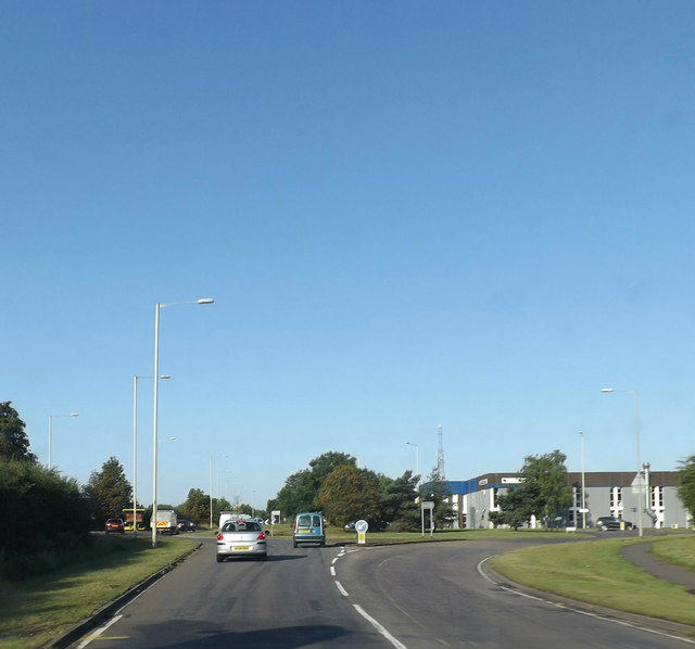 Entering Bedford on the A428 St.Neots Road