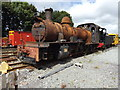 SH4758 : Derelict locomotive at Dinas station by Richard Hoare