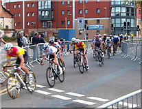 SK5803 : Leicester Castle Classic cycle race by Mat Fascione