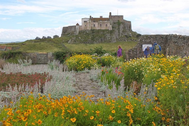 The walled garden at Lindisfarne Castle