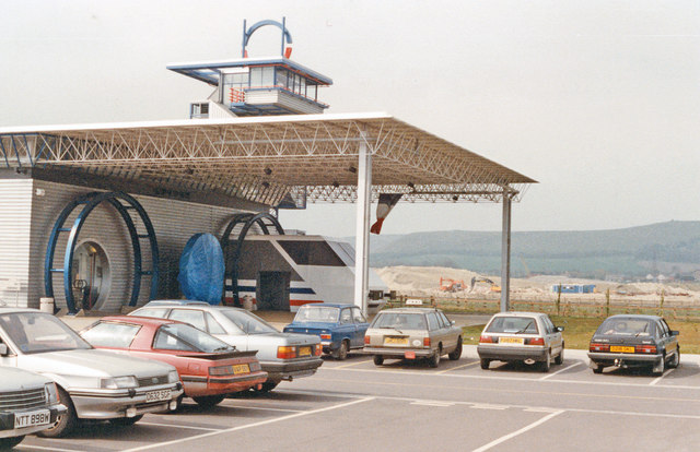 Entrance to Channel Tunnel Exhibition, 1989
