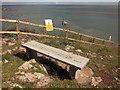 SX9262 : Bench above Meadfoot Beach by Derek Harper