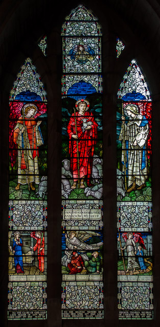 Stained glass window, St Michael & All Angels church, Ledbury