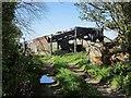SX3267 : Derelict barn near Higher Keason by Derek Harper