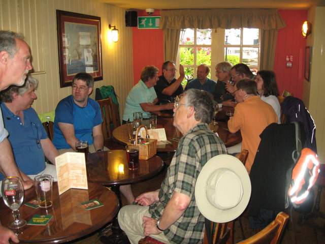 Eve of AGM 2014 Geographers in Hythe 11-Hants