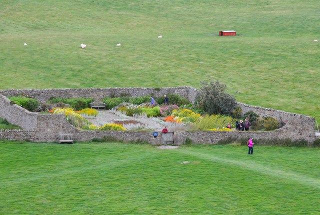 The walled garden, Lindisfarne