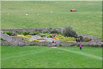 NU1341 : The walled garden, Lindisfarne by Jim Barton