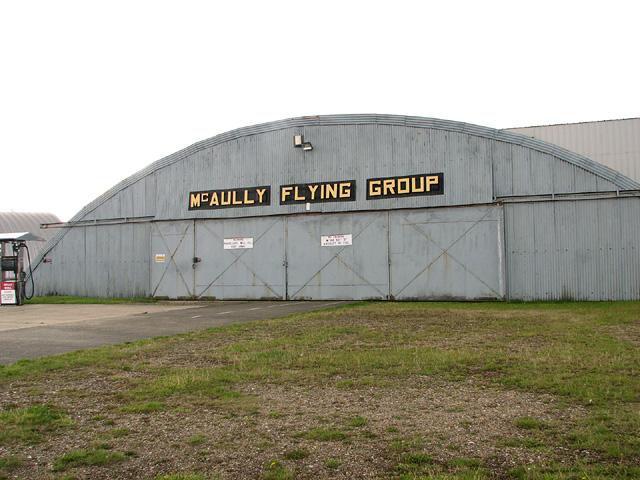 Blister hangar on Little Snoring Airfield
