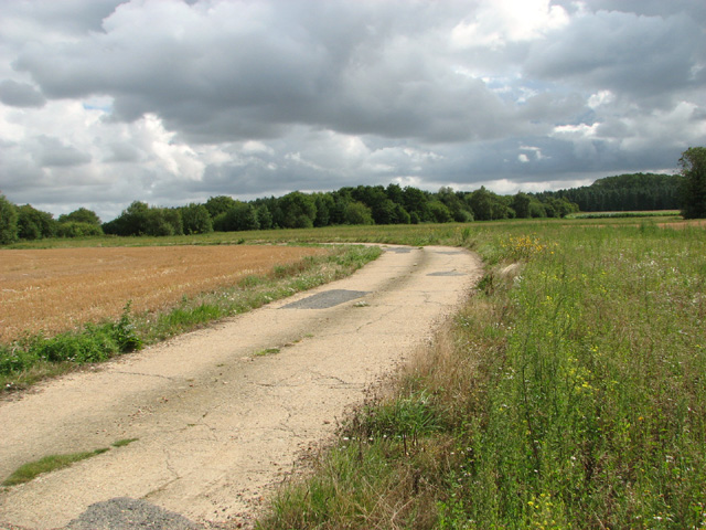 Concreted road on Little Snoring Airfield