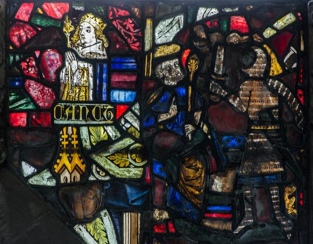 Fragments of Medieval Glass, St Michael's church, Ledbury
