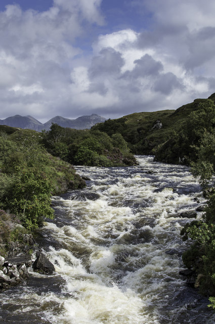 River Inver looking towards Quinag