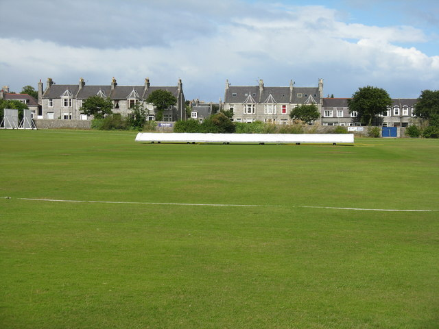 Cricket pitch at Mannofield