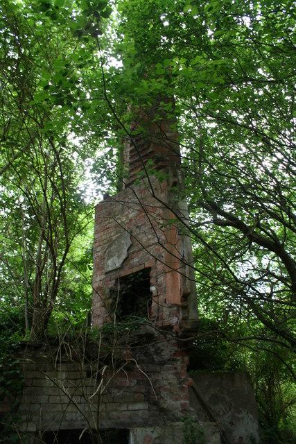 Chimney stack at Horsley Hall