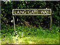 TM3092 : Lang Gate Way sign by Adrian Cable
