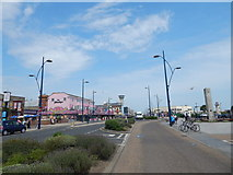 TG5307 : Gap in road, Great Yarmouth by Hamish Griffin