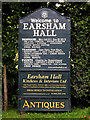 TM3089 : Earsham Hall sign by Adrian Cable