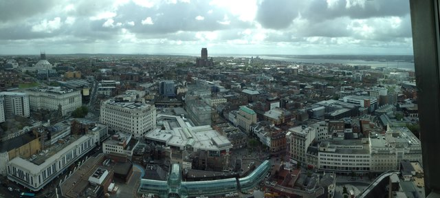 Liverpool - Clayton Square and Central Station from the Tower